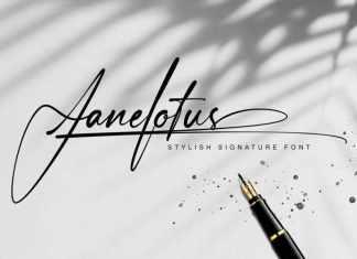 Janelotus Handwritten Font