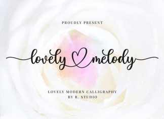 Lovely Melody Calligraphy Font