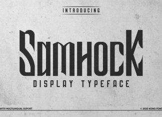 Samhock Display Font