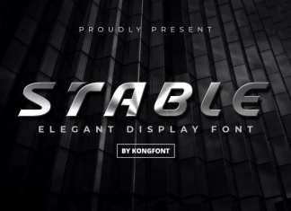 Stable Display Font