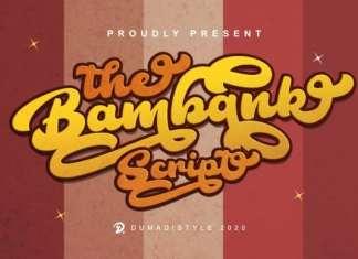 The ,Bambank, Font,The Bambank Font,The Bambank Script , Handwritten Font