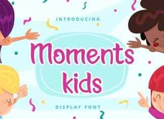 Moments kids Display Font