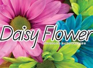Daisy Flower Handwritten Font