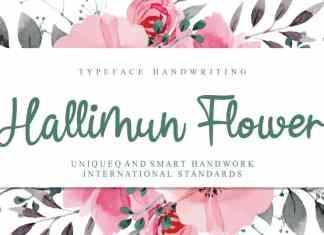 Hallimun Flower Script Font