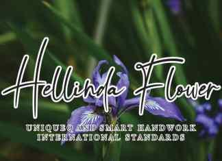 Hellinda Flower Handwritten Font