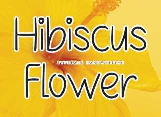 Hibiscus Flower Handwritten Font
