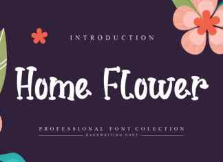 Home Flower Display Font