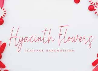 Hyacinth Flowers Handwritten Font
