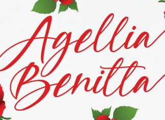 Agellia Benitta Calligraphy Font