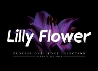 Lilly Flower Brush Font