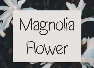 Magnolia Flower Script Font