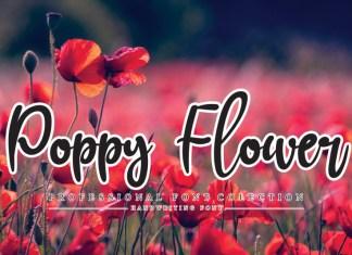 Poppy Flower Script Font