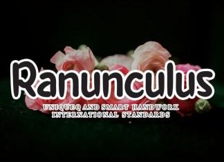 Ranunculus Flower Handwritten Font