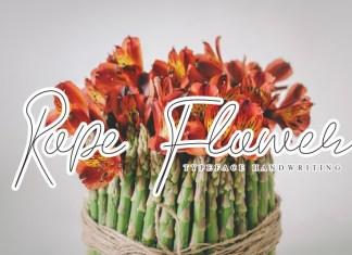 Rope Flower Script Font