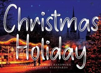 Christmas Holiday Brush Font