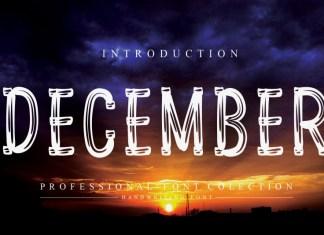 December Display Font
