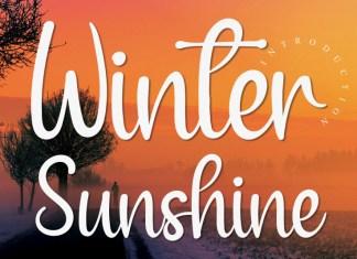 Winter Sunshine Script Font