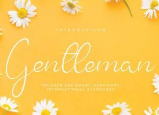 Gentleman Script Font