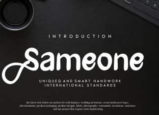 Sameone Script Font