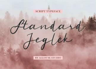 Standard Jeglek Script Font