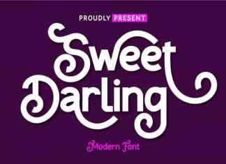 Sweet Darling Display Font