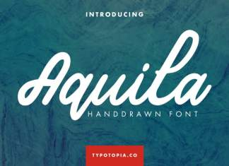 Aquila Handdrawn Script Font