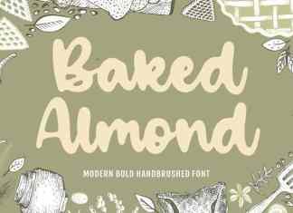 Baked Almond Handbrushed Font