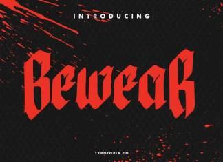 Bewear Creepy Font