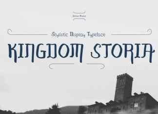 Kingdom Storia Display Font