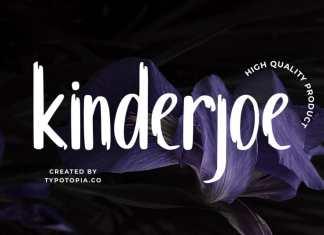Kinderjoe Display Font