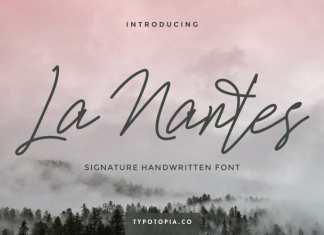 La Nantes Handwritting Signature Font