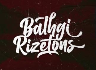Balhgi Rizetons Brush Font