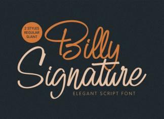 Billy Script Font