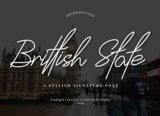 Brittish State Handwritten Font