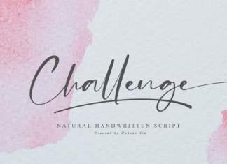 Challenge Script Font