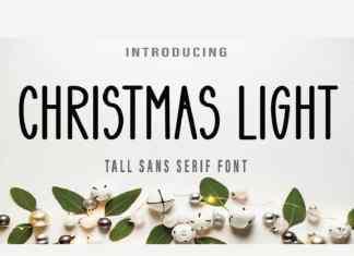 Christmas Light Display Font