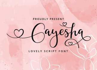 Gayesha Calligraphy Font