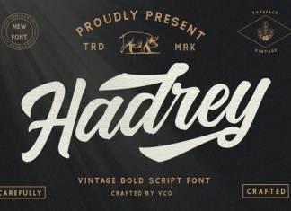 Hadrey - Vintage Script Font