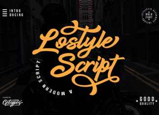 Lostyle Script Font