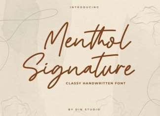 Menthol Signature - Handwritten Font