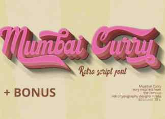 Mumbai Curry Script Font