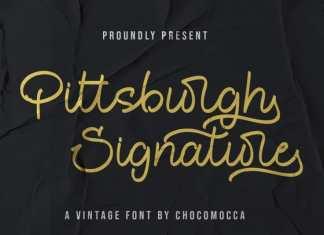 Pittsburght Signature Font
