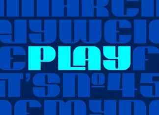 Play Heavy Display Font