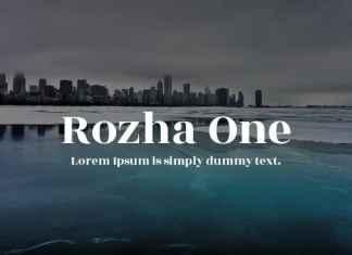 Rozha One Serif Font - Google Fonts