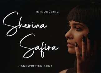 Sherina Safira Handwritten Font