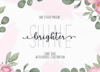 Shine Brighter Script Font