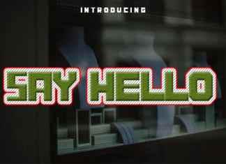 Say Hello Display Font