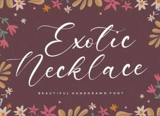 Exotic Necklace Handdrawn Font