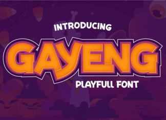 Gayeng Display Font