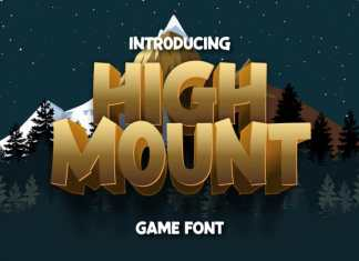 High Mount Display Font